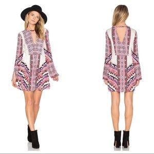 NWOT FREE PEOPLE Tegan Boarder Print Mini Dress